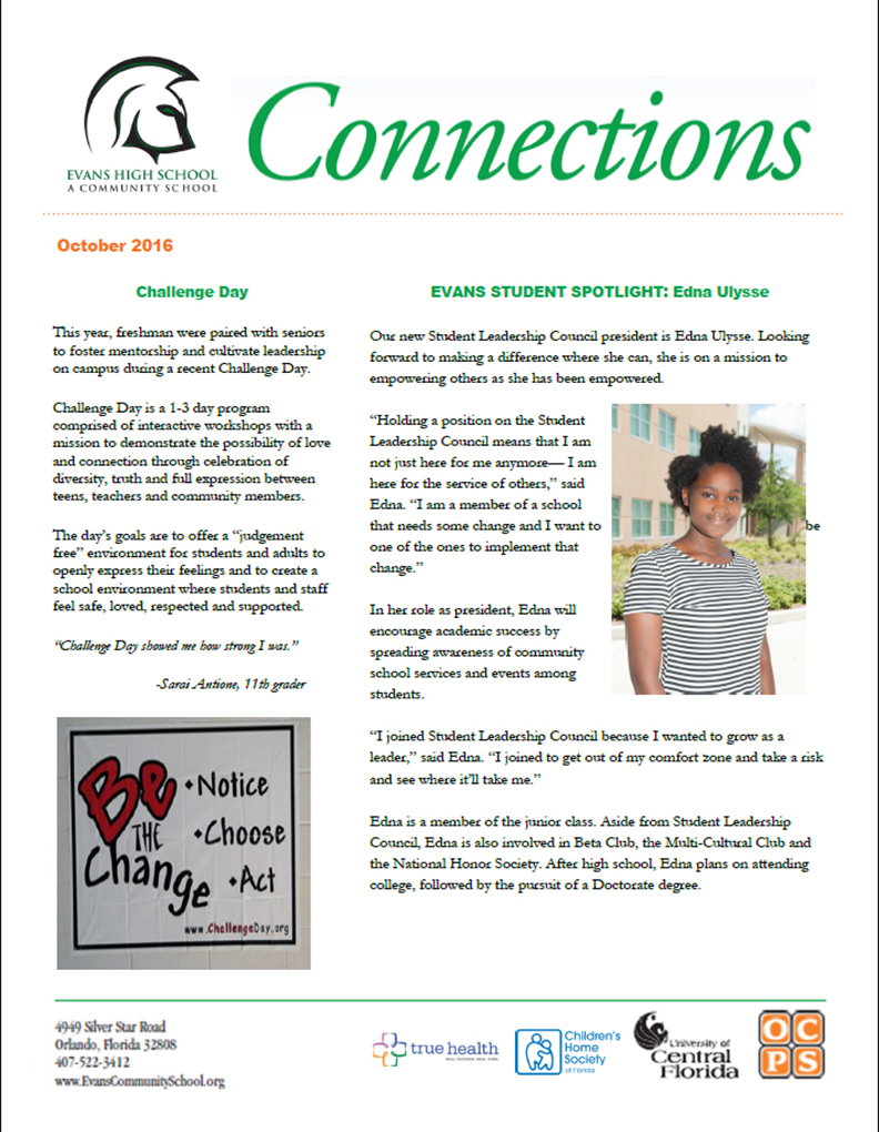 Evans Community School Connections - January 2015